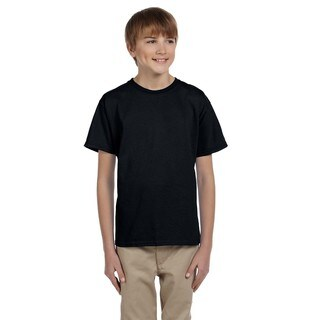 Gildan Boys' Ultra Black Cotton/Polyester T-shirt