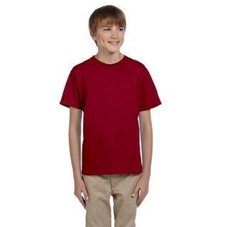 Boy's Cardinal Red Ultra Cotton T-Shirt