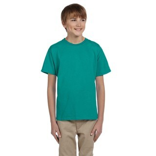 Gildan Boys' Ultra Jade Dome Polyester/Cotton T-shirt