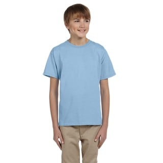 Gildan Boys' Ultra Light Blue Cotton/Polyester T-shirt