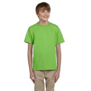Gildan Boy's Ultra Green Cotton/Polyester T-shirt