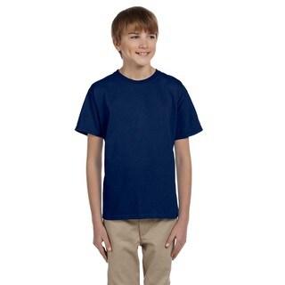 Gildan Boys' Ultra Navy Cotton/Polyester T-shirt