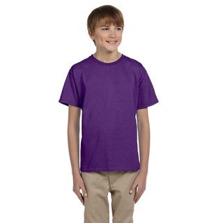 Ultra Boy's Purple Cotton and Polyester T-shirt