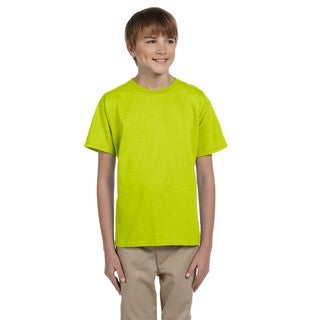 Gildan Boys' Safety Green Cotton Polyester T-shirt
