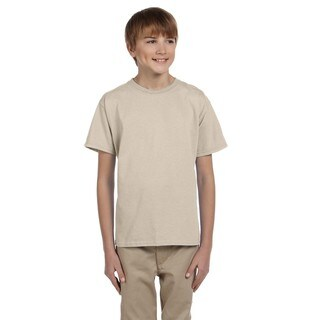 Gildan Boys Sand Cotton/Polyester T-shirt