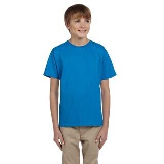 Cotton Boys' Sapphire Cotton/Polyester T-shirt