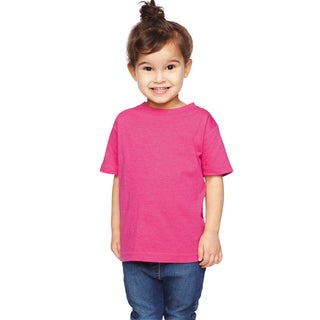 Youth Hot Pink Cotton-blended Vintage Heathered Fine Jersey T-shirt