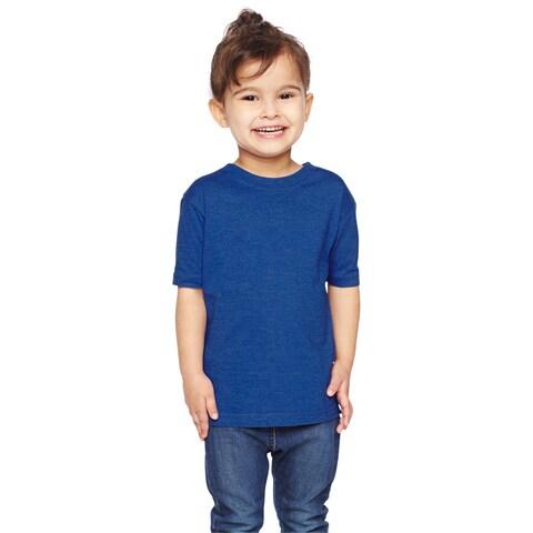 Boys' Royal Cotton/Polyester Vintage Heathered Fine Jersey T-shirt