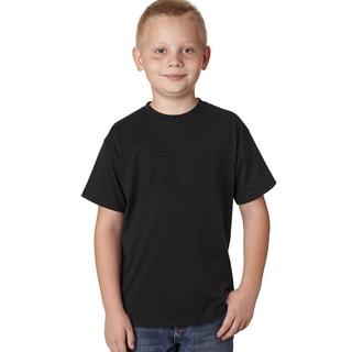 Hanes Boys' X-Temp Black Cotton/Polyester Performance T-shirt