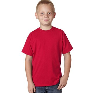 X-Temp Boy's Deep Red Cotton and Polyester Performance T-shirt