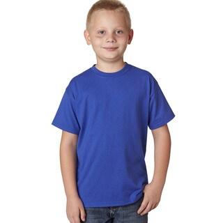 Hanes Boy's X-Temp Blue Cotton, Polyester Short-sleeve T-shirt