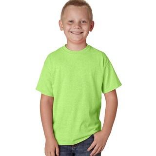 X-Temp Boys' Neon Lime Heather Performance T-Shirt