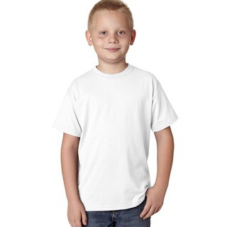Hanes Boys' X-Temp White Cotton/Polyester Performance T-shirt