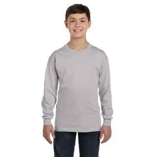 Hanes Men's Youth Light Steel Grey Comfortsoft Tagless Long-sleeve T-shirt|https://ak1.ostkcdn.com/images/products/12133137/P18990462.jpg?impolicy=medium