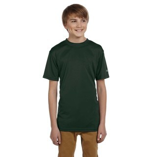 Boy's Youth Dark Green Double-dry T-shirt