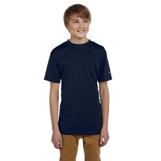 Champion Boys' Double Dry Navy Cotton/Polyester T-shirt