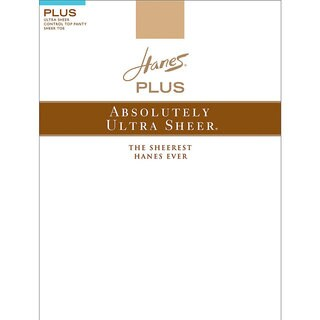 Absolutely Ultra Sheer Women's Barely Black Sheer Control Top SF Pantyhose