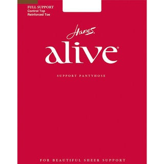 Alive Women's South Pacific Full Support Control Top Reinforced Toe Pantyhose