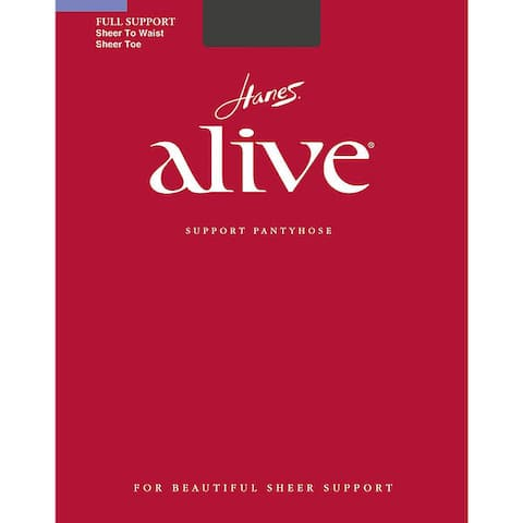 Alive Womens Sheer to Waist Pantyhose Barely Black