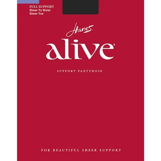 Hanes Women's Alive Tan Nylon/Spandex Sheer to Waist Pantyhose