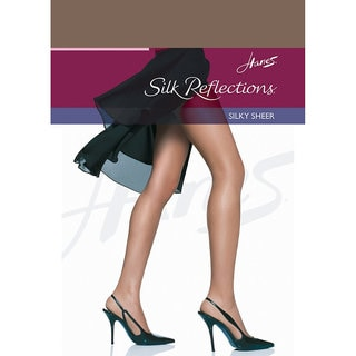 Silk Reflections Women's Town Taupe Reinforced Toe Pantyhose