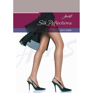 Silk Reflections Women's Soft Taupe Reinforced Toe Pantyhose