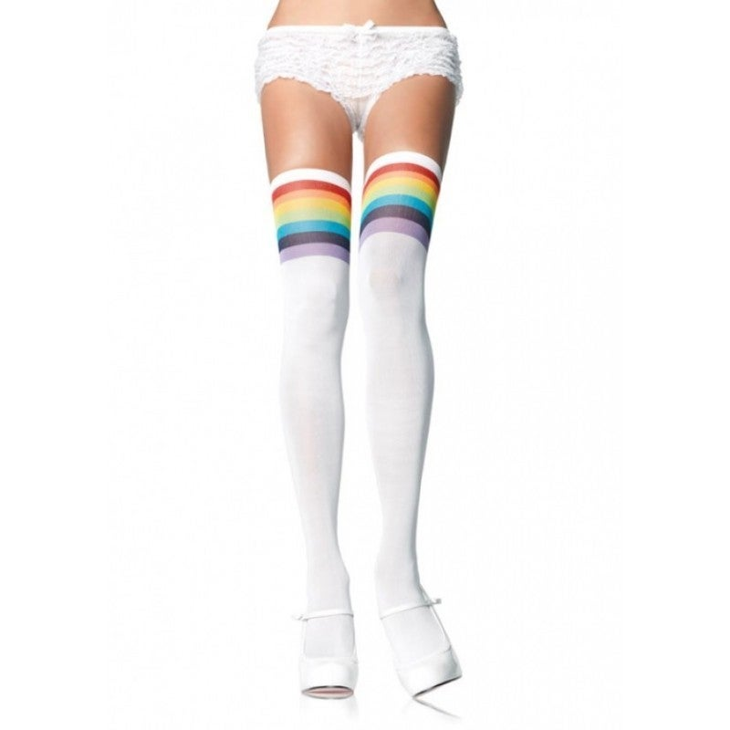 Leg Avenue Over the Rainbow Opaque Thigh High Stockings (...