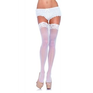 Nylon Sheer Thi-Hi with Lace Top