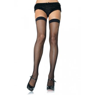 Nylon Fishnet Thigh-high Stockings