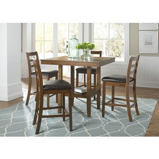 Tucson Dining II Contemporary Oak Finish 5 Piece Gathering Set