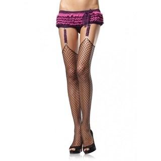 Leg Avenue Black Nylon Net Stockings