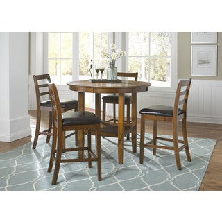 Tucson Dining II Contemporary Oak Finish 5 Piece Pub Set