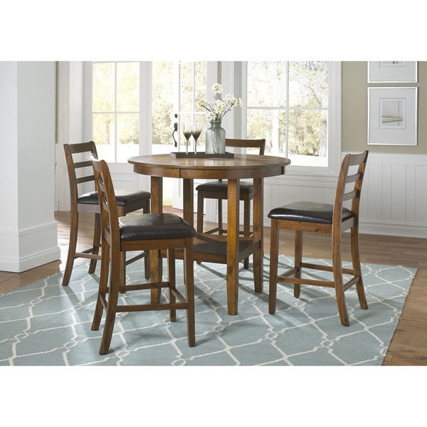 Tucson Dining Ii Contemporary Oak Finish 5 Piece Pub Set Free Shipping Today