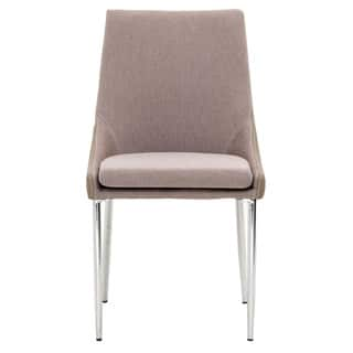 Modern Life Bailey Silver/Chrome/Stainless Steel Metal/Fabric/Faux Leather Dining Chairs (Set of 2)|https://ak1.ostkcdn.com/images/products/12133277/P18990576.jpg?impolicy=medium