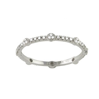 10k White Gold 1/6ct TDW Diamond Stackable Eternity Band Ring