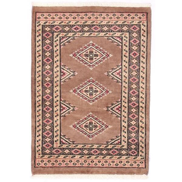 Herat Oriental Pakistani Hand-knotted Bokhara Wool Rug (2' x 2'11) - 2' x 2'11