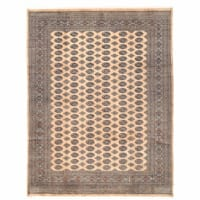 Herat Oriental Pakistani Hand-knotted Bokhara Wool Rug (8'11 x 11'9) - 8'11 x 11'9