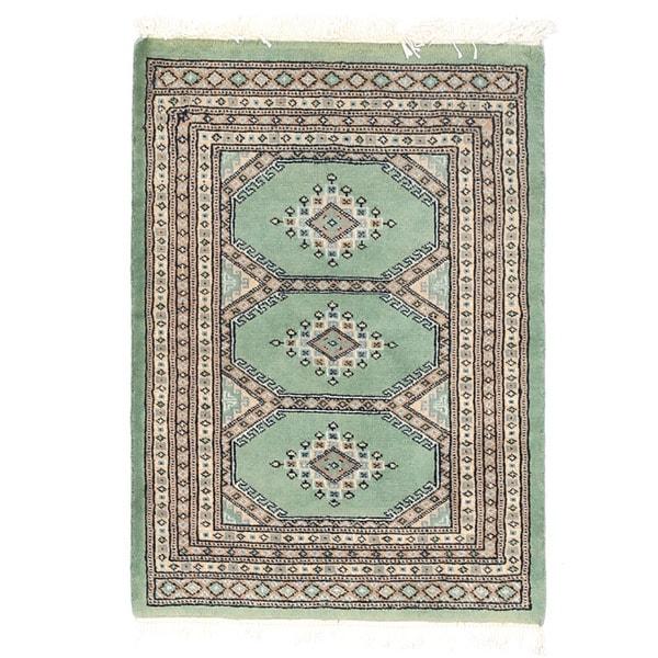 Herat Oriental Pakistani Hand-knotted Bokhara Wool Rug - 2'1 x 2'11