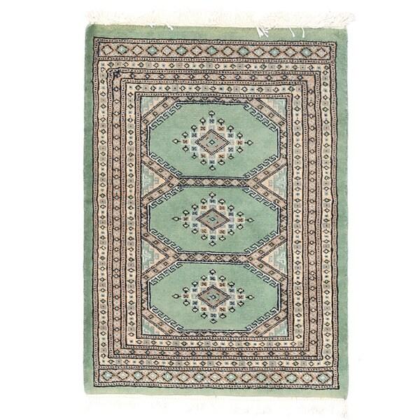 Handmade Herat Oriental Pakistani Bokhara Wool Rug (Pakistan) - 2'1 x 2'11