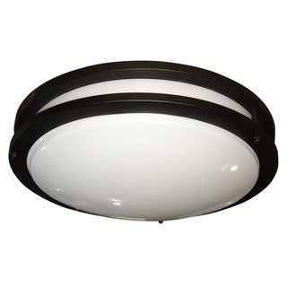 Y-Decor Euro Decorative Iron/ Acrylic Oil Rubbed Bronze Fluorescent Ceiling Flush Mount Light Fixture
