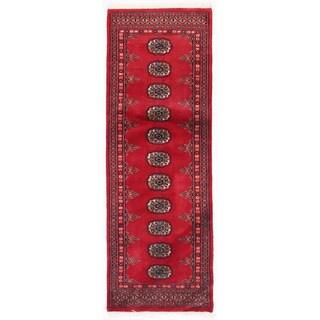 Herat Oriental Pakistani Hand-knotted Bokhara Wool Runner (2'1 x 5'11)