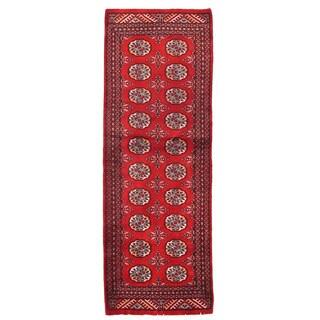 Herat Oriental Pakistani Hand-knotted Bokhara Wool Runner (2' x 5'10)