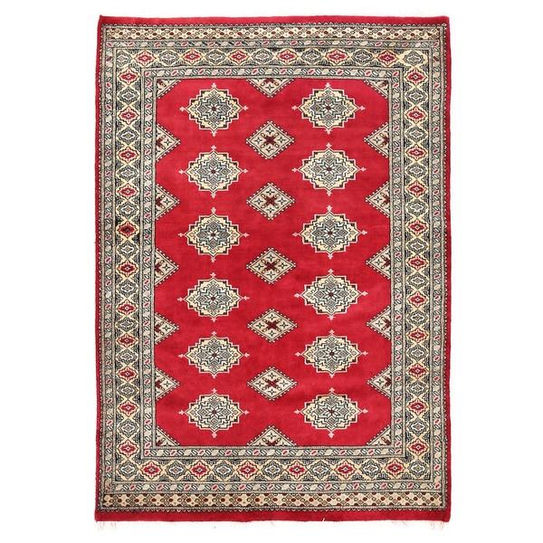 Herat Oriental Pakistani Hand-knotted Bokhara Wool Rug (3'11 x 5'8)