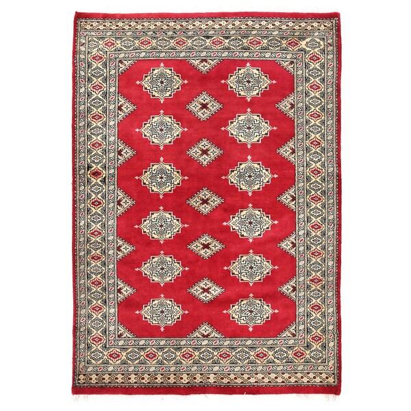Herat Oriental Pakistani Hand-knotted Bokhara Wool Rug (3'11 x 5'8) - 3'11 x 5'8