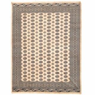 Herat Oriental Pakistani Hand-knotted Bokhara Wool Rug (9' x 12') - 9' x 12'