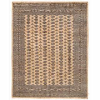 Herat Oriental Pakistani Hand-knotted Bokhara Wool Rug (9'2 x 11'10)