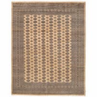 Handmade Herat Oriental Pakistani Bokhara Wool Rug (Pakistan) - 9'2 x 11'10