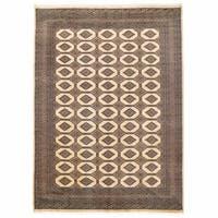 Herat Oriental Pakistani Hand-knotted Bokhara Wool Rug - 8'2 x 11'4