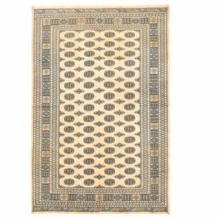 Handmade Herat Oriental Pakistani Bokhara Wool Rug - 6'7 x 10' (Pakistan)