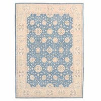 Herat Oriental Afghan Hand-knotted Oushak Wool Rug (9'10 x 13'9) - 9'10 x 13'9